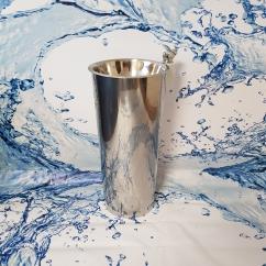 Фонтанчик питьевой ФПН-2К с краном поилкой (нержавеющая сталь) диаметр чаши 260 мм