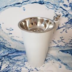 Фонтанчик питьевой ФПН-2 с краном поилкой (полимер) диаметр чаши 260 мм